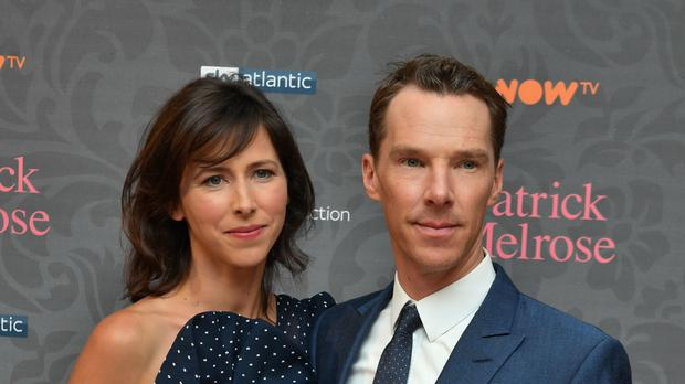 Benedict Cumberbatch, pictured with his wife, has spoken about protecting funding for the arts (John Stillwell)
