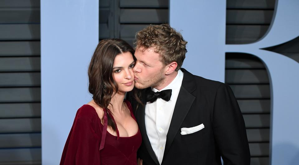 Emily Ratajkowski and Sebastian Bear-McClard. The actress has shared an image of her engagement ring for the first time (PA Wire/PA Images)