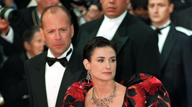 Demi Moore helps roast ex-husband Bruce Willis
