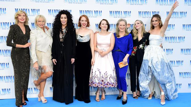 In Pictures Meryl Streep And Cher Lead Star Studded Mamma