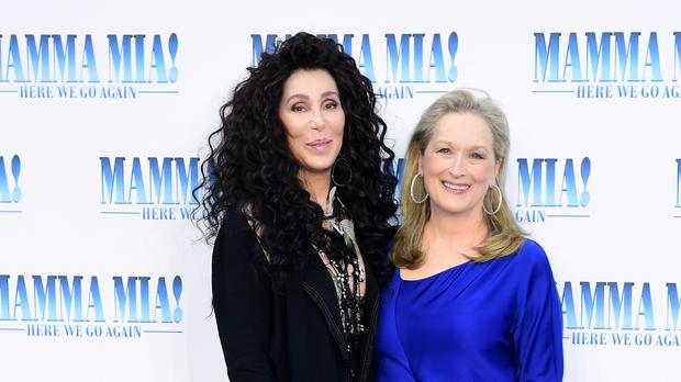 Cher and Meryl Streep star in the Mamma Mia sequel (Ian West/PA)