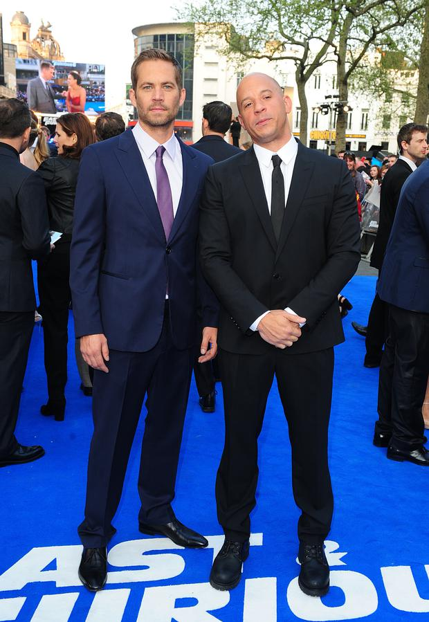 Paul Walker and Vin Diesel arriving for the premiere of Fast And Furious 6 at the Empire Leicester Square in London (Ian West/PA)fast