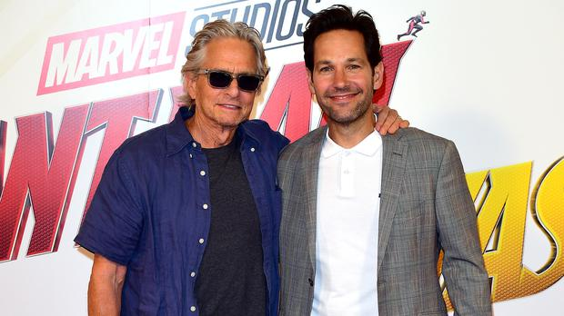 Paul Rudd says Michael Douglas and Michelle Pfeiffer gave credibility to Ant-Man and the Wasp (Ian West/PA)