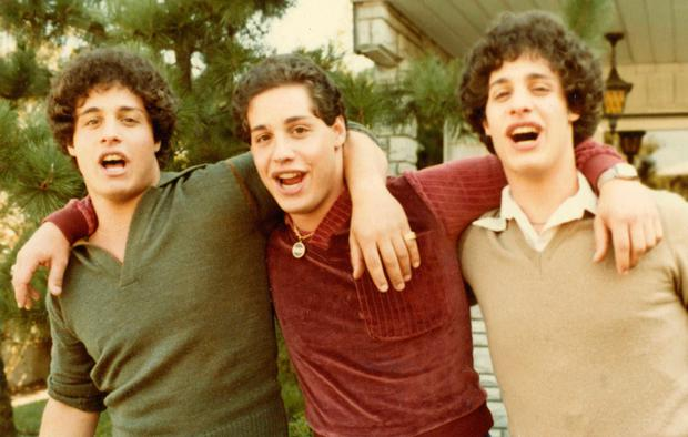 Before the cracks: the reunited triplets Eddy, David and Bobby. Photo: NEON