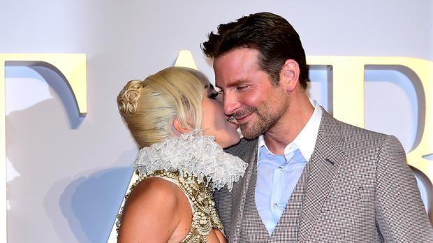 Lady Gaga and Bradley Cooper, who starred alongside each other in A Star Is Born (Ian West/PA)