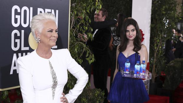 Jamie Lee Curtis at the Golden Globes (Matt Sayles/Invision for FIJI Water/AP)