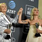 Glenn Close and Lady Gaga shared the best actress prize at the Critics' Choice Awards (Jordan Strauss/Invision/AP)