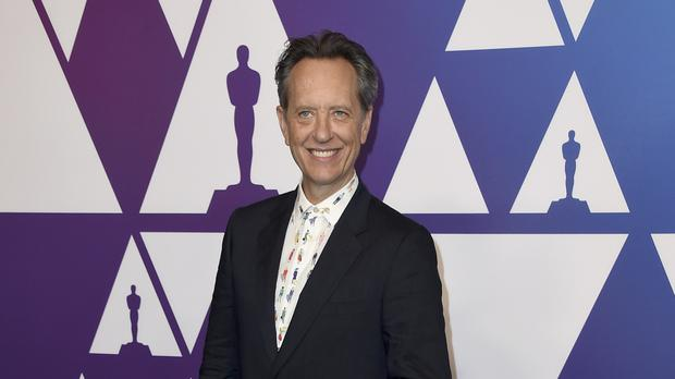 Richard E Grant posed alongside his fellow Academy Award nominees (Jordan Strauss/Invision/AP)