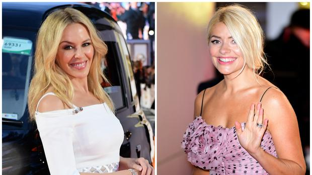 Holly Willoughby and Kylie Minogue join stars marking Valentine's Day (Ian West/PA)