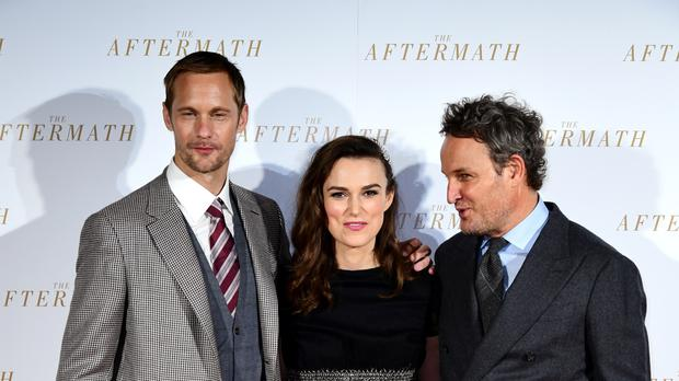 Alexander Skarsgard, Keira Knightley, and Jason Clarke attending the world premiere of The Aftermath (PA)