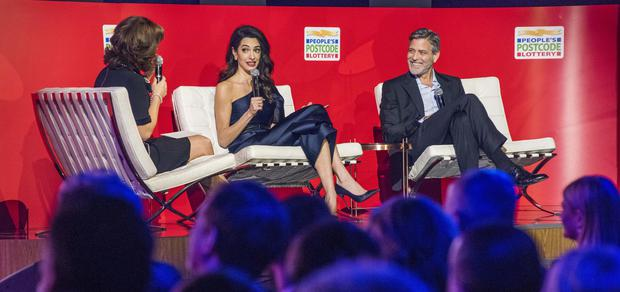 George and Amal Clooney handed gala award for human rights