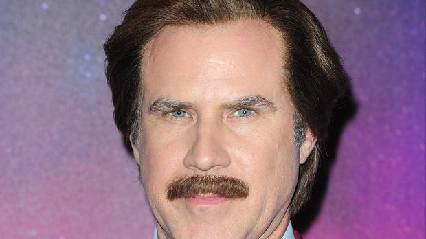 Actor Will Ferrell made an appearance in the commentary box of an ice hockey game as his cult comedy character Ron Burgundy (Ian West/PA)