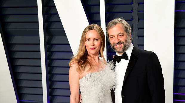 Leslie Mann and Judd Apatow (Ian West/PA)