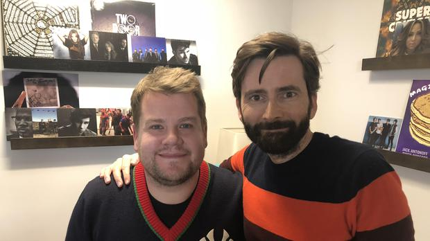 James Corden and David Tennant (David Tennant Does A Podcast With)