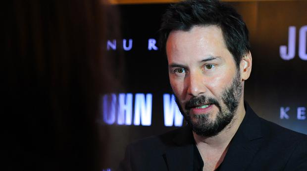 Keanu Reeves attending a special screening of John Wick at the May Fair Hotel, London.