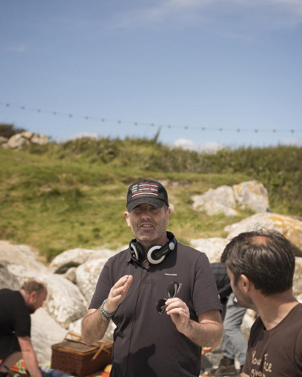 David Gleeson on the set of Don't Go