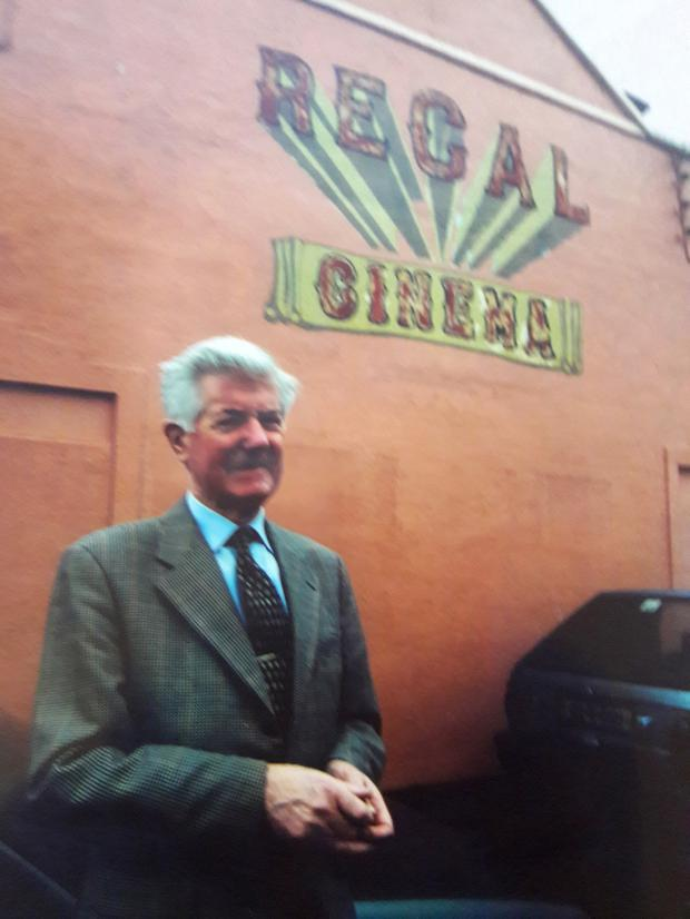 Cinematic tradition: Eddie Gleeson in front of the old Regal Cinema in Cappamore