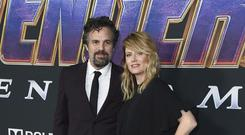 Mark Ruffalo and Sunrise Coigney were among the celebrities attending the Avengers: Endgame premiere (Jordan Strauss/Invision/AP)
