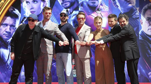 Avengers Immortalised In Cement At Hollywood S Chinese Theatre