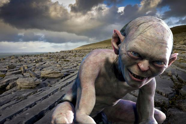 Sharp contrast: Gollum may be named after part of the Burren