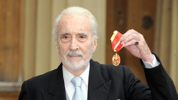 Sir Christopher Lee's photographic archive has been donated to the British Film Institute (BFI), the organisation has announced (Anthony Devlin/PA)