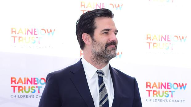 Rob Delaney arriving for the Trust in Fashion event at the Grosvenor House in London's Park Lane where Harvey Nichols are showcasing designers at a celebrity-studded fashion fundraiser for the Rainbow Trust's Children's Charity (PA)