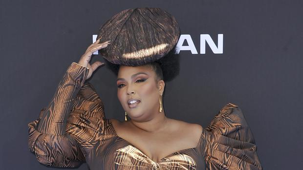 Lizzo was among the stars pictured arriving at the BET Awards (Richard Shotwell/Invision/AP)