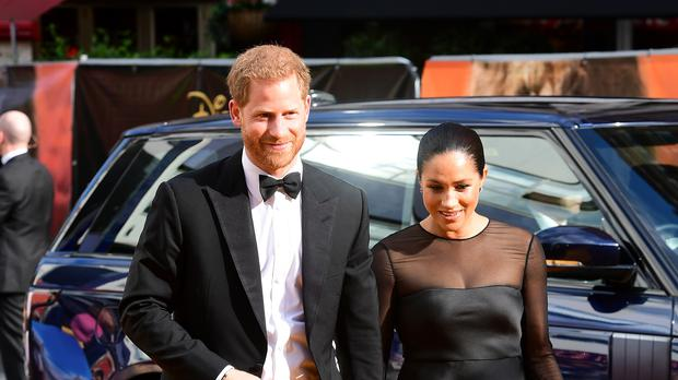 The Duke and Duchess of Sussex attending Disney's The Lion King European premiere in Leicester Square, London (Ian West/PA)