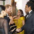 The Duke and Duchess of Sussex meet Beyonce and Jay-Z (Niklas Halle'n/PA)