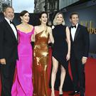Actors Hugh Bonneville, Elizabeth McGovern, Michelle Dockery, Laura Carmichael and Allen Leech at the Downton Abbey world premiere (Joel C Ryan/Invision/AP)
