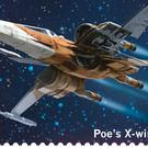 Poe Dameron's X-wing fighter from the new 16-stamp set which will mark next month's release of Star Wars: The Rise Of Skywalker (Royal Mail/PA)