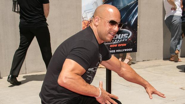 Vin Diesel attends the World Premiere of the Fast & Furious-Supercharged ride at Universal Studios Hollywood (AP)