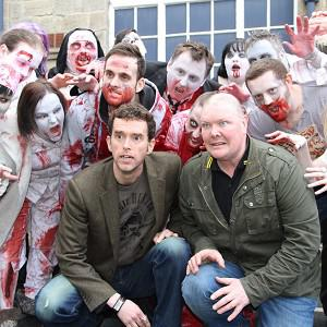 Mark Charnock and Dominic Brunt are swapping soap dramas for zombies again