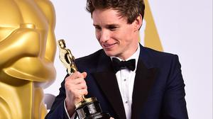 Eddie Redmayne with his leading actor Oscar (AP)