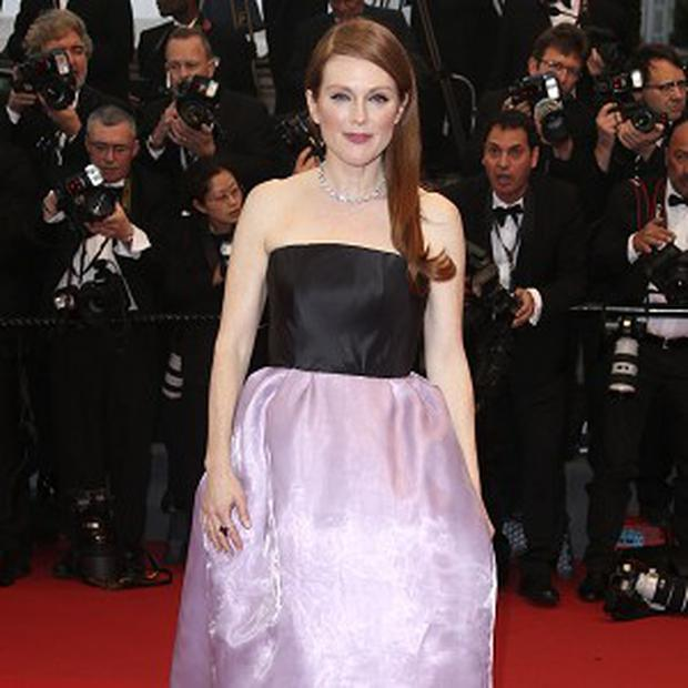 Julianne Moore made a brief visit to Cannes as the face of a cosmetics brand