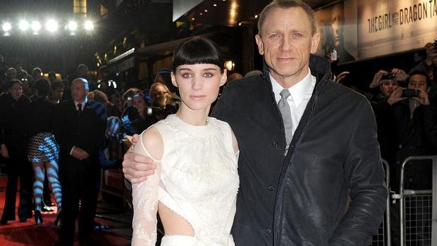 Rooney Mara and Daniel Craig arriving for the world premiere of The Girl with The Dragon Tattoo, at Odeon, Leicester Square, London