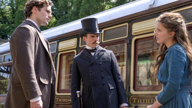The Holmes siblings: Henry Cavill, Sam Claflin and Millie Bobby Brown in Enola Holmes