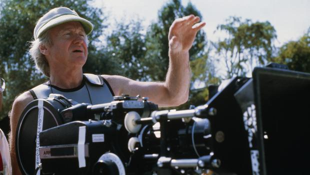 On set: director John Boorman on his 1987 film Hope and Glory. Photo by Murray Close