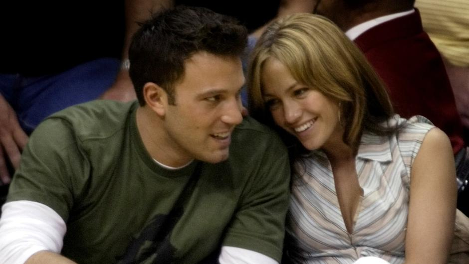 Ben Affleck and Jennifer Lopez pictured together in May 2003 PIC REUTERS/Mike Blake