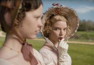 Anya Taylor-Joy (right) is very good as the opinionated and overly confident Emma