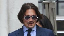 Actor Johnny Depp leaves the High Court (Yui Mok/PA)
