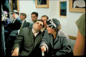 Rising son: Daniel Day-Lewis and Brenda Fricker in My Left Foot.