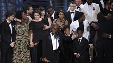 Barry Jenkins accepts the best picture Oscar for Moonlight (Chris Pizzello/Invision/AP)