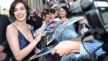 "Anne Hathaway arrives at the Los Angeles Premiere ""Interstellar"""