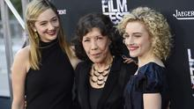 Lily Tomlin, centre, with Judy Greer and Julia Garner at the premiere of Grandma at the Los Angeles Film Festival (Chris Pizzello/Invision/AP)