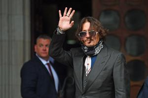 Actor Johnny Depp is giving evidence on the second day of his high-profile libel action against The Sun newspaper (Victoria Jones/PA)