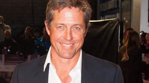 Hugh Grant arriving for the premiere of The Rewrite at the Odeon Kensington in west London