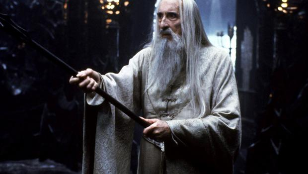 Christopher Lee as Saruman in 'The Lord of the Rings: The Two Towers'