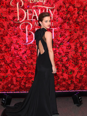 Emma Watson, who plays Beauty, attends a screening of 'Beauty and the Beast' in New York