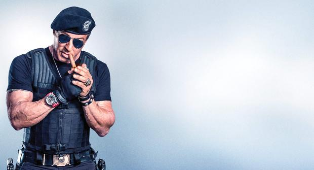 Fighting fit: Despite creeping towards his 70s, Sly Stallone has two more instalments of The Expendables lined up